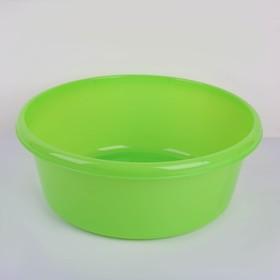 Таз круглый 14 л, цвет зелёный