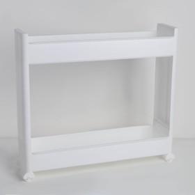 Этажерка настольная узкая 2-х секционная IDEA, на колёсиках, цвет белый