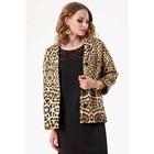 Пиджак женский, размер 50, цвет бежевый, чёрный