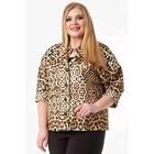 Пиджак женский, размер 62, цвет бежевый, чёрный