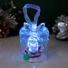 """Игрушка световая """"Подарок с Дедом Морозом"""" (батарейки в комплекте) , 1 LED, RGB"""