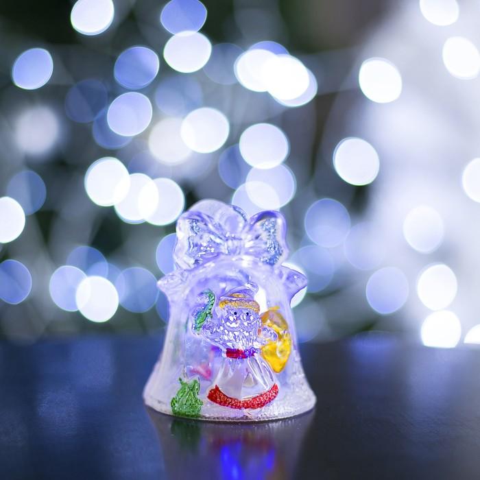 """Игрушка световая """"Колокольчик и Дед мороз"""", батарейки в комплекте"""