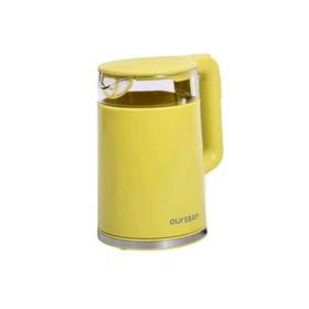 Чайник Oursson EK1733WD/GA, 2200 Вт, 1.7 л, пластик, регулировка температуры, зелёный