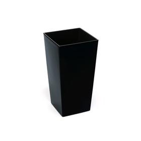 Пластиковый горшок с вкладышем «Финезия», 30х30х55 см, цвет чёрный