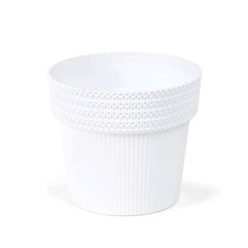 Пластиковый горшок «Пола Джампер», диаметр 13 см, цвет белый,