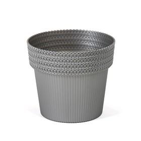 Пластиковый горшок «Пола Джампер», диаметр 13 см, цвет серебро