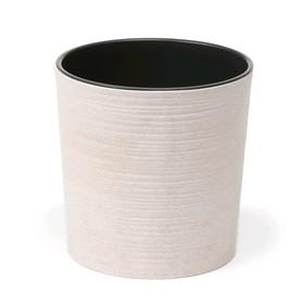 Пластиковый горшок с вкладкой «Мальва Эко Джуто», 25 см, цвет бежевый мрамор