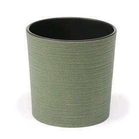 Пластиковый горшок с вкладкой «Мальва Эко Джуто», 30 см, цвет зелёный лес