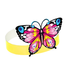 "Mask cardboard ""Butterfly pink"""