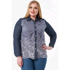 Рубашка женская, размер 58, цвет синий, голубой