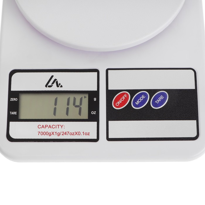 Весы LuazON LVK-704, электронные, кухонные, до 7 кг, от 2*АА (не в комплекте)