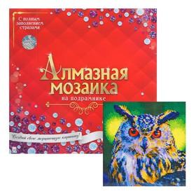 Алмазная мозаика с полным заполнением, 30 × 30 см «Сова»