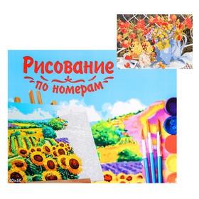 Картина по номерам на холсте, 40 × 50 см «Букеты с тюльпанами»