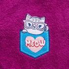 Халат махровый детский «Мяу», размер 30, цвет фиолетовый, с AIRO - фото 105553092