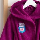 Халат махровый детский «Мяу», размер 30, цвет фиолетовый, с AIRO - фото 105553090
