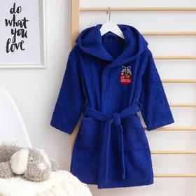 Халат махровый детский «Енотик», цвет синий, размер 30 - фото 1394986