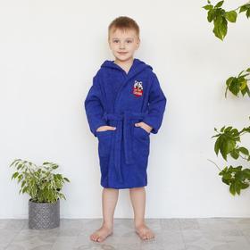 Халат махровый детский «Енотик», цвет синий, размер 30 - фото 1394988