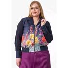 Блуза женская, размер 60, цвет синий