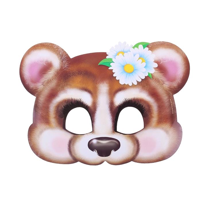 Маска карнавальная «Мишка-девочка»