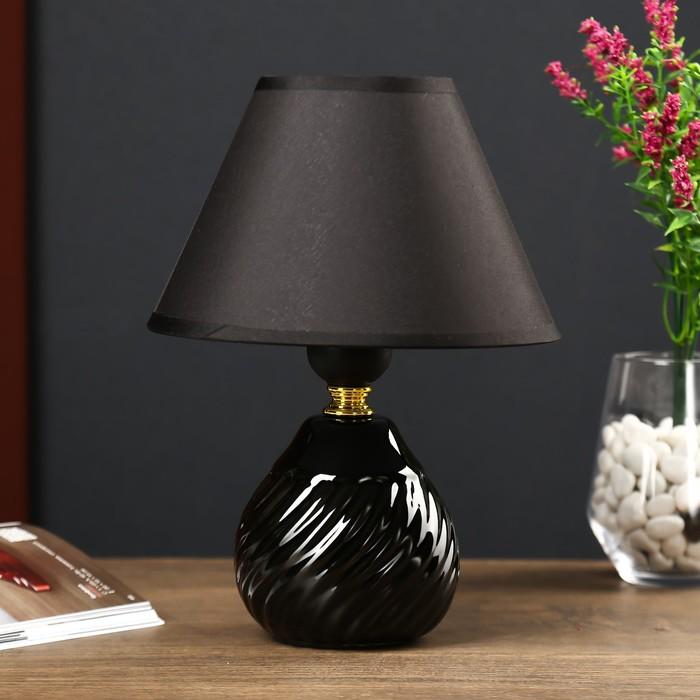 Настольная лампа 5004 1х60W E27 черный 18х38 см