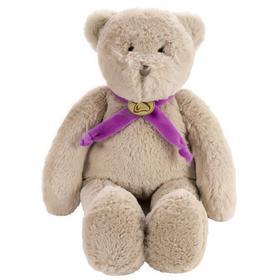 Мягкая игрушка «Медведь», 40 см, цвет серый/фиолетовый