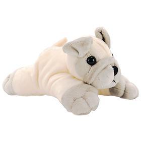 Мягкая игрушка «Мопс», 12 см, цвет бежевый/серый