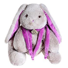 Мягкая игрушка «Кролик», 30 см, цвет серый/фиолетовый