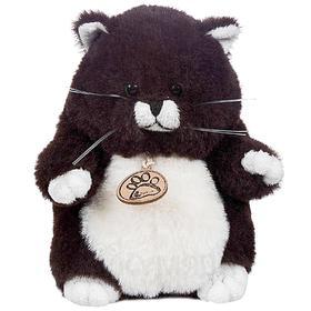 Мягкая игрушка «Толстый кот», 16 см, цвет горький шоколад