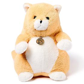 Мягкая игрушка «Толстый кот», 33 см, цвет персиковый
