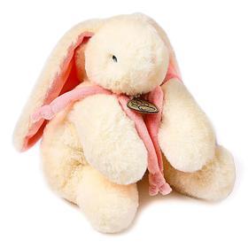 Мягкая игрушка «Кролик», 30 см, цвета МИКС белый/розовый, молочный/розовый