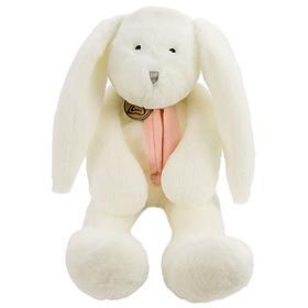 Мягкая игрушка «Заяц», 40 см, цвет белый/розовый