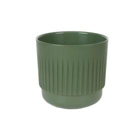 Пластиковый горшок с вкладкой «Бетта», цвет нефрит
