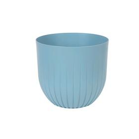 Пластиковый горшок с вкладкой «Альфа», цвет ментол