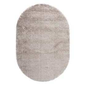 Ковёр овальный Shaggy, 0.6x1.1 м, цвет серый