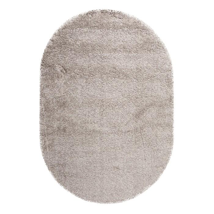 Ковёр овальный Shaggy, 0.6x1.1 м, цвет серый - фото 787980