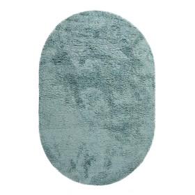 Ковёр овальный Shaggy Viva 0.6x0.9 м, цвет голубой