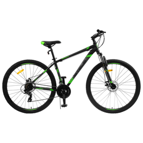 """Велосипед 29"""" Stels Navigator-900 MD F010, цвет чёрный/зелёный, размер 17,5"""""""
