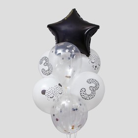"A bouquet of balloons ""Cheetah"", figure 3, foil, latex, confetti, ribbon, set of 8 PCs"
