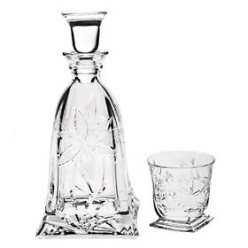 Набор для виски Prince: 1 штоф 750 мл+6 стаканов 320 мл декор Цветок