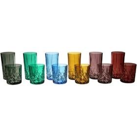 Набор стаканов для виски BRIXTON COLOR, 6 цветов, 320 мл, 6 шт