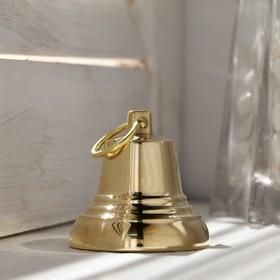Колокольчик Валдайский №3, полированный, с ушком, d=40 мм