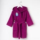 Халат махровый детский «Мяу», размер 32, цвет фиолетовый, с AIRO - фото 105553093