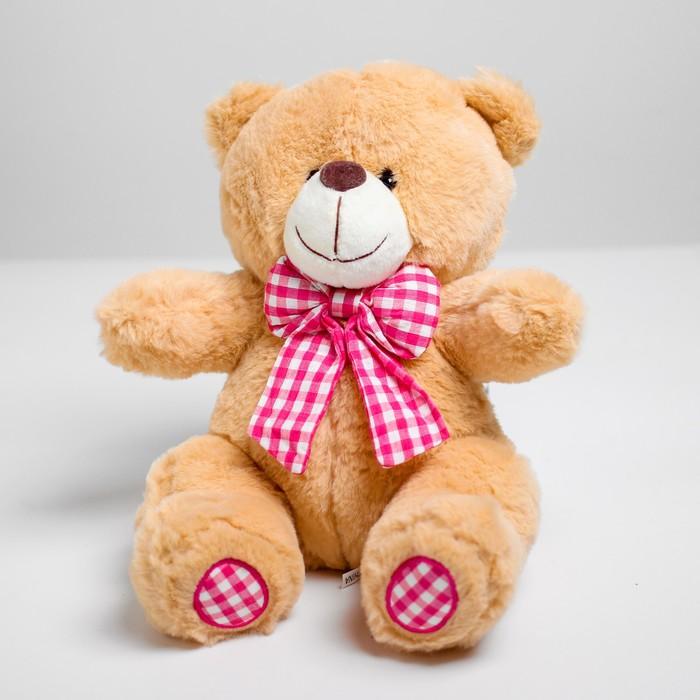 Мягкая игрушка «Мишутка с бантом», цвета МИКС - фото 4471077