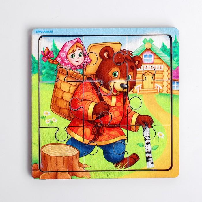 Пазл «Маша и медведь», 9 деталей - фото 105598819