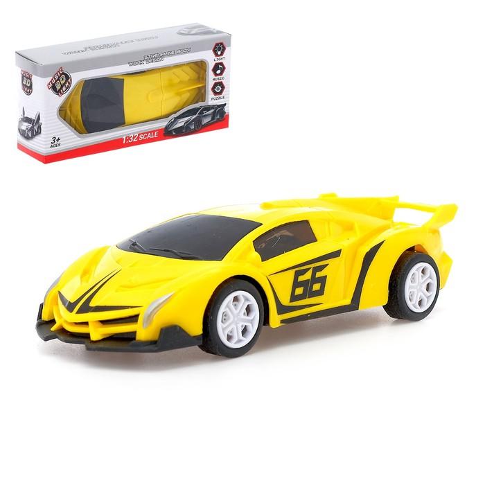 Машина «Спорт Кар», световые и звуковые эффекты, работает от батареек, МИКС