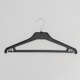 Вешалка-плечики для трикотажа и лёгкой одежды, размер 40-44, цвет чёрный