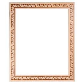Рама для зеркал и картин, дерево, 40 х 50 х 5.0 см, липа, «Лепесток», горячее тиснение