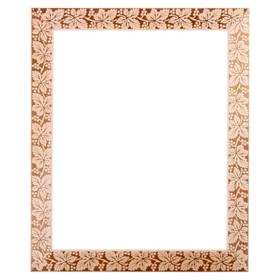 Рама для зеркал и картин, дерево, 50 х 70 х 5.0 см, липа, «Виноградная лоза», горячее тиснение