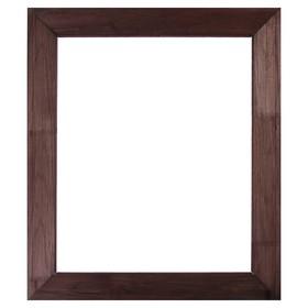 Рама для зеркал и картин, дерево, 50 х 60 х 7.5 см, липа, брашировка, венге