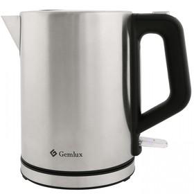 Чайник электрический GEMLUX GL-EK602SS, 2000 Вт, 1 л, автоотключение, нерж.сталь